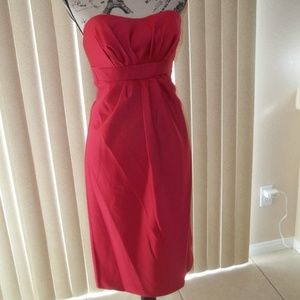 ALFRED ANGELO LIPSTICK STRAPLESS DRESS SIZE 10